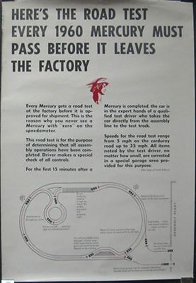 1960 Mercury Factory Test Track Poster 56830-47WX8Z