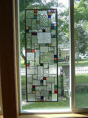 Radiant Stained Glass Window Panel Transom