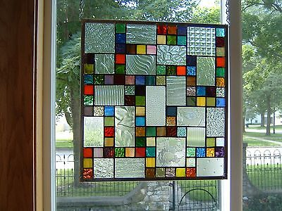 Phenomenon Stained Glass Window Panel Transom