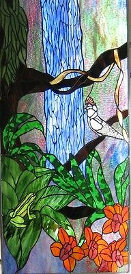 Mullucan Parrot Stained Glass Window Panel EBSQ Artist
