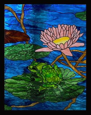 Frog Pond Stained Glass Window Panel EBSQ Artist