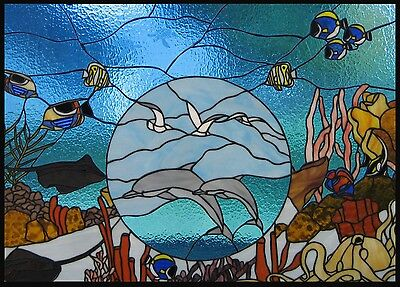 Porthole to the Surface Stained Glass Window Panel EBSQ Artist