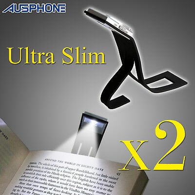 2x Portable Travel Flexible LED Clip On Book Reading Light For Kindle Kobo Lamp