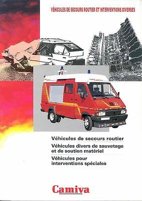 1999 Camiva Renault Fire Truck Brochure French f127-W8YTOC