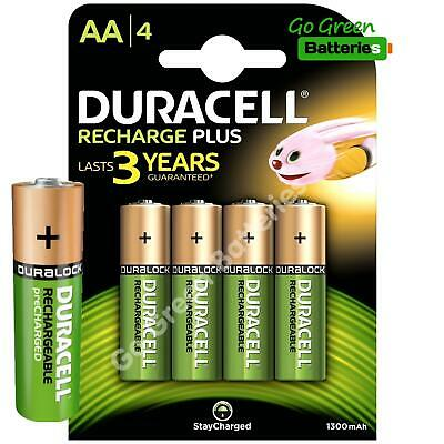 4 x Duracell AA 1300 mAh STAY CHARGE Rechargeable Batteries NiMH HR6 ACCU phone