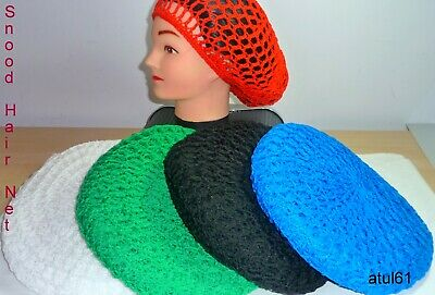 Snood Beret Soft Rayon Rasta  Crochet Knitted Whale Hair Net Hat Accessories New