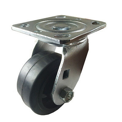 "4"" x 2"" Heavy Duty ""Rubber on Cast Iron"" Caster - Swivel"