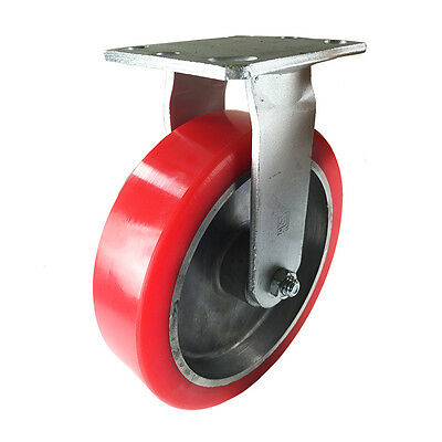"8"" x 2"" Aluminum wheel Casters -  Rigid"