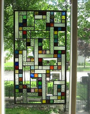Vibrant Stained Glass Window Panel EBSQ Artist