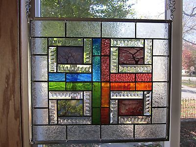 4 Seasons Winter Spring Summer Fall Stained Glass Window Panel EBSQ Artist