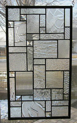 Star Dust Stained Glass Window Panel EBSQ Artist Transom Sidelight Valance