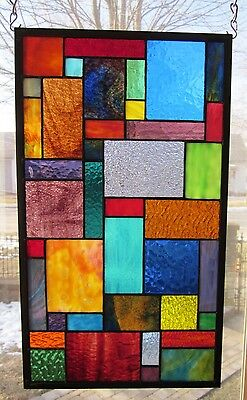 Paradise Stained Glass Window Panel EBSQ Artist Transom Sidelight Valance