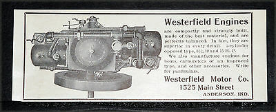 1904 Old Magazine Print Ad, Westerfield Engines, 2 - 15 H.p, Compact & Strong!