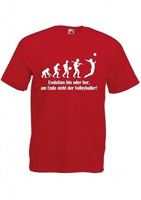 FUN T-SHIRT - Druck EVOLUTION VOLLEYBALL - FRUIT OF THE LOOM - IN 11 FARBEN