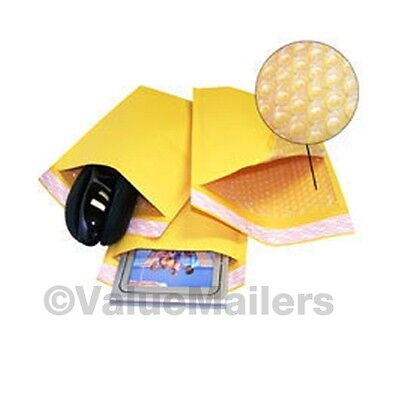 """400 #000 4x8 """" Valuemailers Brand """" Kraft Bubble Mailers Padded Envelopes Bags"""