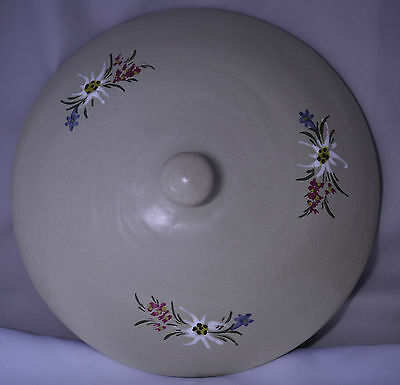VINTAGE STOOB EDELWEISS POTTERY 9 INCH COVER FOR CASSEROLE DISH - COVER ONLY