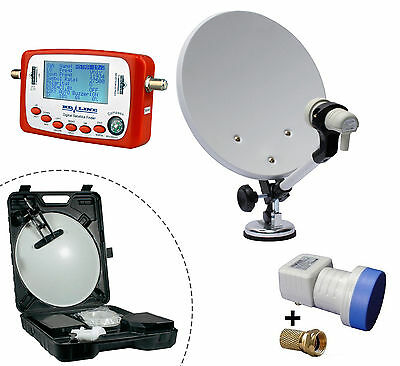 Kit camping Parabole + SF-500 satfinder pointeur satellite + LNB Single HD