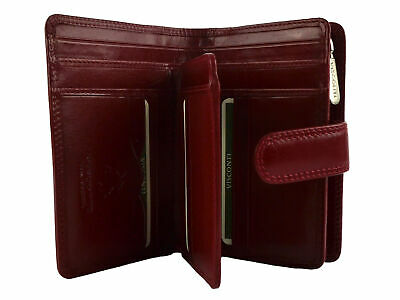 Top Quality LADIES ITALIAN LEATHER PURSE WALLET Visconti MONZA Gift Boxed New