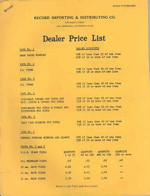 1965 Record Importing Co Dealer Price List Brochure 67155-FYJZZO