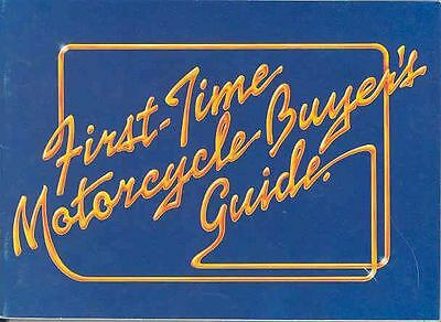 1980 Suzuki Motorcycle First Time Buyer Brochure 67188-RHUSVD