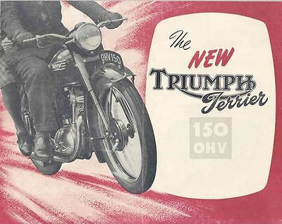 1954 Triumph Terrier 150 Motorcycle Brochure 67251-4EX973