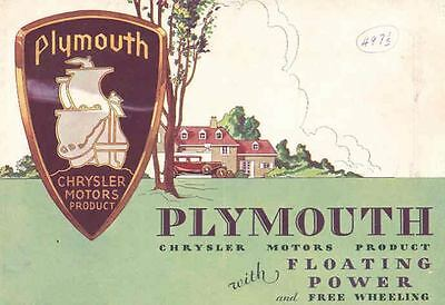1932 Plymouth Brochure Floating Power Free Wheeling 72914-417QWX