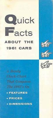 1961 AMC Rambler vs Competition Brochure Quick Facts  78547-KHWEPY