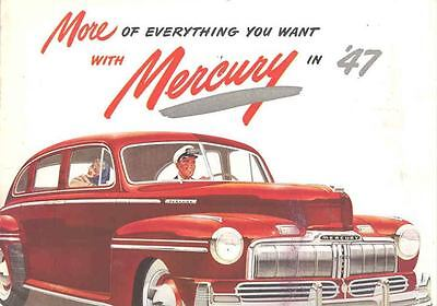 1947 Mercury Sales Brochure Poster wr0565-4H1RDD