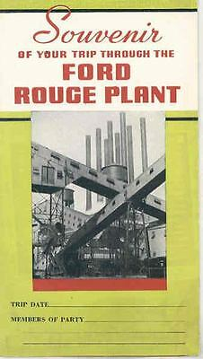 1938 1939 Ford Rouge Plant Tour Brochure Poster wr0608-3XOHIN