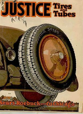 1918 Justice Sears Automobile Tires and Parts Brochure wr1068-2GZVQK