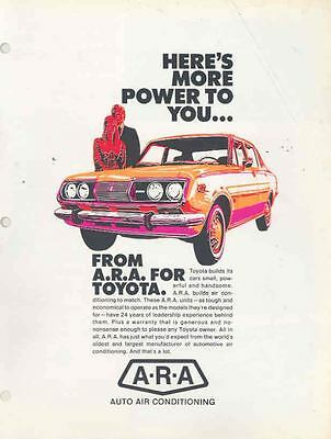 1972 Toyota Air Conditioning Brochure wr2712-6NZJO1