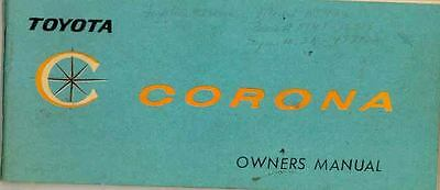 1965 1966 Toyota Corona Owner's Manual wr2989-HCS4A2