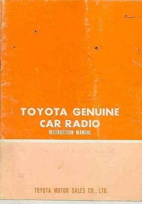 1969 1970 1971 1972 ? Toyota AM/FM Radio Owner's Manual wr2994-P2MMKT
