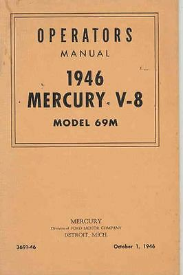 1946 Mercury Owner's Manual wr3161-YPZHVX