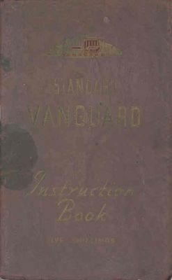 1950 1951 ? Standard Vanguard Owner's Manual wr3277-LR3N44