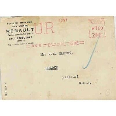 1930 Renault Factory Letter wr4515-5ZD33W
