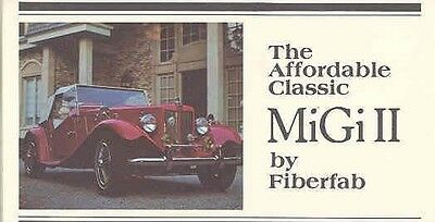 1952 1980 MG TD MiGi II Fiberfab Kit Car Brochure mw1990-KD5WT3