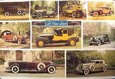 1927 1928 1929 1931 1932 1933 Classic Lincoln Poster mw2259-H9Q74N