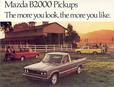 1980 Mazda B2000 Pickup Truck Sales Brochure mw2925-FVD5NM