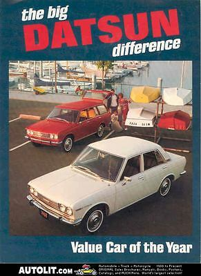 1968 Datsun Sedan & Station Wagon Sales Brochure mw3128-NXUXQY
