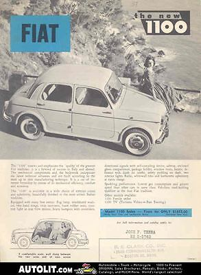 1957 Fiat 1100 Sedan Sales Brochure mw3276-2I3VFH