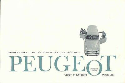 1958 Peugeot 403 Station Wagon Sales Brochure mw4038-HK7R1O