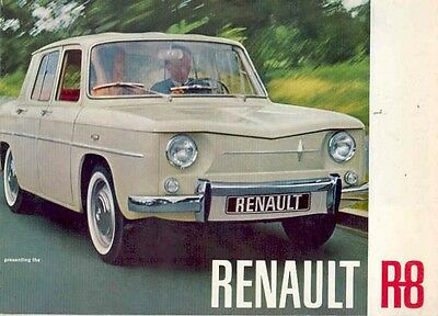 1963 Renault R8 Sales Brochure mw5217-SJEY4A