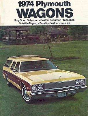 1974 Plymouth Wagon  Sales Brochure mw5481-FP6S5A
