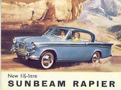 1960 Sunbeam Rapier Sales Brochure mw5892-H3NBO4