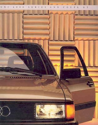 1985 Audi 4000 Series and Coupe GT Sales Brochure mw6532-H54AQ2