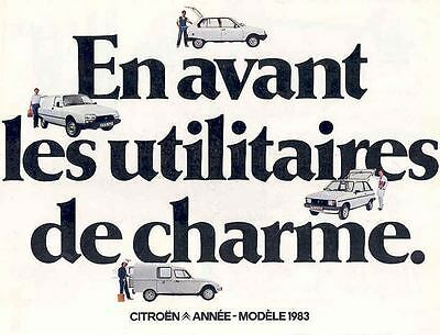 1983 Citroen LNA Visa GSA Acadiane Brochure French mw6703-711544