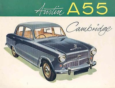 1957 Austin A55 Cambridge Sales Brochure England mw7532-VVM5BL