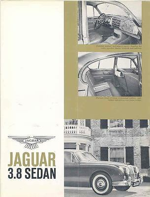 1961 Jaguar 3.8 Sales Brochure mw7782-3JS3FH