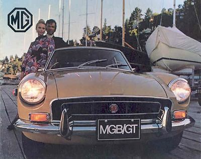 1972 MG MGBGT Sales Brochure mw7829-5FEJ3B